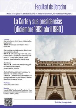 La Corte y sus presidencias (diciembre 1983-abril 1990)