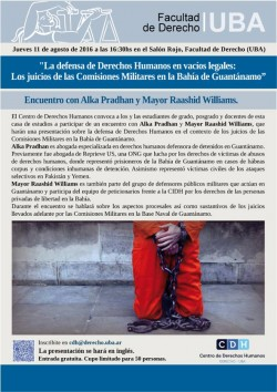 La defensa de Derechos Humanos en vacíos legales: Los juicios de las Comisiones Militares en la Bahía de Guantánamo