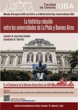 La histórica relación entre las universidades de La Plata y Buenos Aires