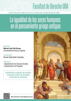La igualdad de los seres humanos en el pensamiento griego antiguo