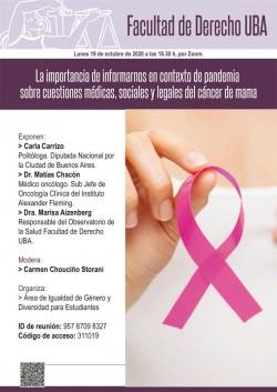 La importancia de informarnos en contexto de pandemia sobre cuestiones médicas, sociales y legales del cáncer de mama