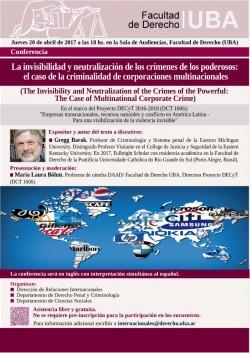 La invisibilidad y neutralización de los crímenes de los poderosos:  el caso de la criminalidad de corporaciones multinacionales