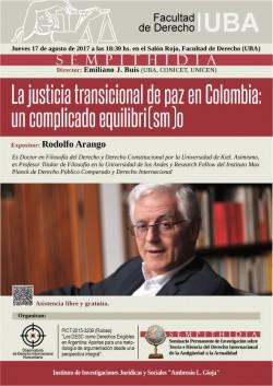 La justicia transicional de paz en Colombia: un complicado equilibri(sm)o