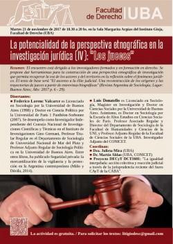 """La potencialidad de la perspectiva etnográfica aplicada en la investigación jurídica (IV): """"Los jueces"""""""