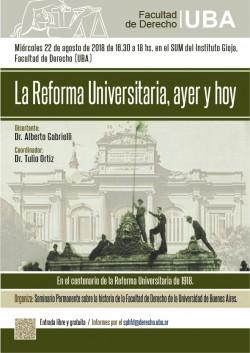 La Reforma Universitaria, ayer y hoy