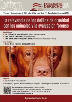 La relevancia de los delitos de crueldad con los animales y la evaluación forense