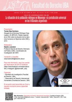 La situación de la población rohingya en Myanmar y la jurisdicción universal en los tribunales argentinos