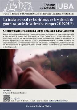 La tutela procesal de las víctimas de la violencia de género (a partir de la directiva europea 2012/29/UE)