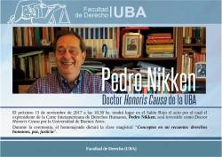 La UBA distinguirá a Pedro Nikken como Doctor <i>Honoris Causa</i>