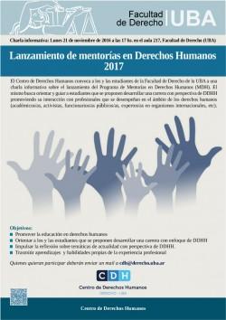 Lanzamiento de mentorías en Derechos Humanos 2017