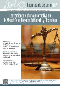 Lanzamiento y charla informativa de la Maestría en Derecho Tributario y Financiero