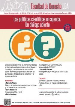Las políticas científicas en agenda. Un diálogo abierto