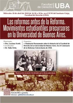 Las reformas antes de la Reforma. Movimientos estudiantiles precursores en la Universidad de Buenos Aires