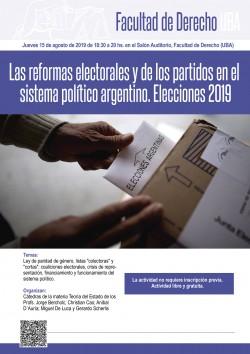 Las reformas electorales y de los partidos en el sistema político argentino. Elecciones 2019