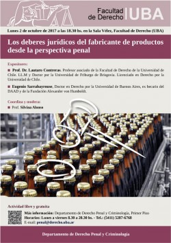 Los deberes jurídicos del fabricante de productos desde la perspectiva penal