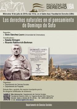 Los derechos naturales en el pensamiento de Domingo de Soto