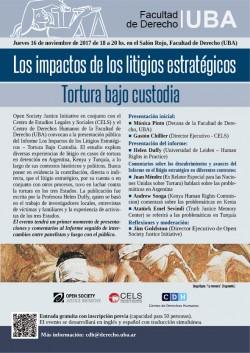 Los impactos de los litigios estratégicos. Tortura bajo custodia