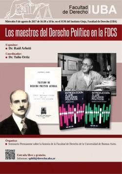 Los maestros del Derecho Político en la FDCS