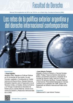 Los retos de la política exterior argentina y del derecho internacional contemporáneo