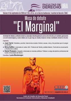"""Mesa de debate """"El Marginal"""""""