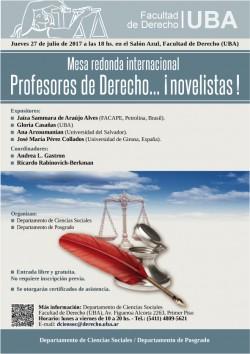 Mesa redonda internacional. Profesores de Derecho... Â¡Novelistas!