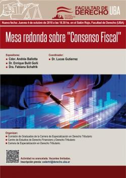 """Mesa redonda sobre """"Consenso Fiscal"""""""