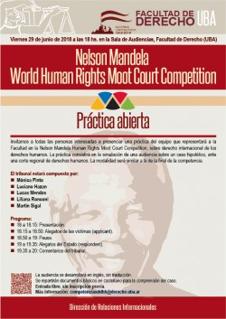 Nelson Mandela World Human Rights Moot Court Competition/Práctica abierta