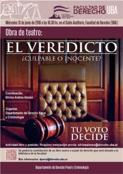 """Obra de teatro: """"El veredicto. Tu voto decide"""""""