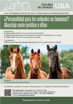¿Personalidad para los animales no humanos? Abordaje socio-jurídico y ético
