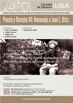 Poesía y Derecho VII. Homenaje a Juan L. Ortiz