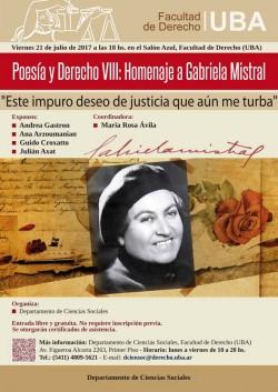 Poesía y Derecho VIII: Homenaje a Gabriela Mistral