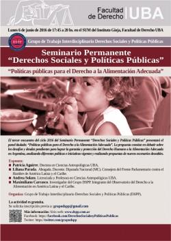 Políticas públicas para el Derecho a la Alimentación Adecuada