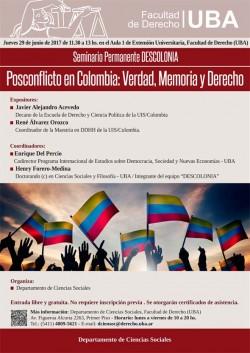 Posconflicto en Colombia: Verdad, Memoria y Derecho