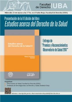 Presentación de la II Edición del libro <i>Estudios acerca del Derecho de la Salud</i>