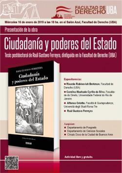 Presentación de la obra <i>Ciudadanía y poderes del Estado</i>