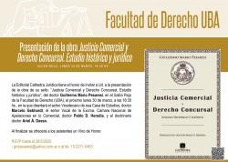 Presentación de la obra <i>Justicia Comercial y Derecho Concursal. Estudio histórico y jurídico</i>