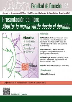 Presentación de libro <i>Aborto: la marea verde desde el derecho</i>