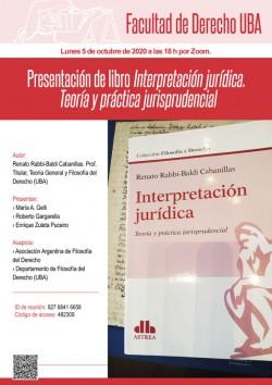 Presentación de libro <i>Interpretación jurídica. Teoría y práctica jurisprudencial</i>