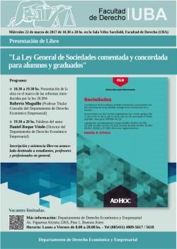 """Presentación de Libro """"La Ley General de Sociedades comentada y concordada para alumnos y graduados"""""""
