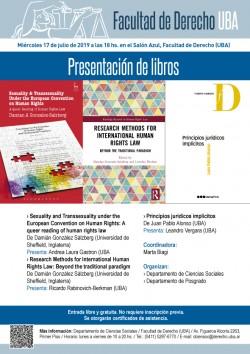 Presentación de libros del Departamento de Ciencias Sociales