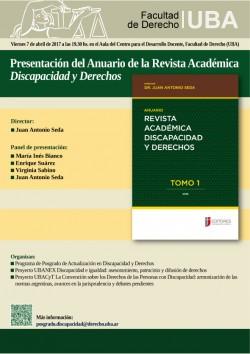 Presentación del Anuario de la Revista Académica <i>Discapacidad y Derechos</i>