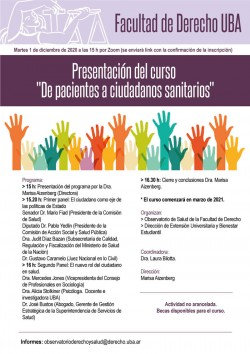 """Presentación del curso """"De pacientes a ciudadanos sanitarios"""""""
