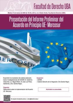 Presentación del Informe Preliminar del Acuerdo en Principio UE- Mercosur