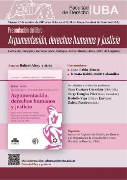 Presentación del libro <i>Argumentación, derechos humanos y justicia</i>