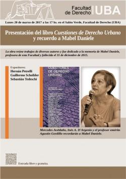 Presentación del libro <i>Cuestiones de Derecho Urbano</i> y recuerdo a Mabel Daniele