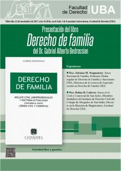 Presentación del libro <i>Derecho de familia</i> del Dr. Gabriel Alberto Bedrossian
