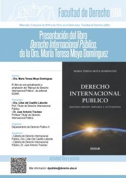 Presentación del libro <i>Derecho Internacional Público</i>, de la Dra. María Teresa Moya Domínguez