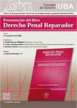 Presentación del libro <i>Derecho Penal Reparador</i>