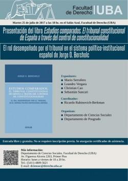 Presentación del libro <i>Estudios comparados. El tribunal constitucional de España a través del control de constitucionalidad</i>