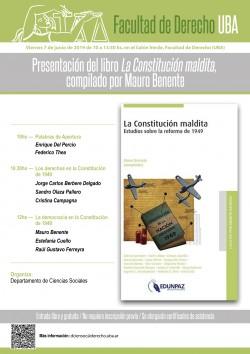 Presentación del libro <i>La maldita Constitución</i>, compilado por Mauro Benente